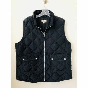 Woolrich Womens Black Duck Down Puffer Vest Sz 2XL